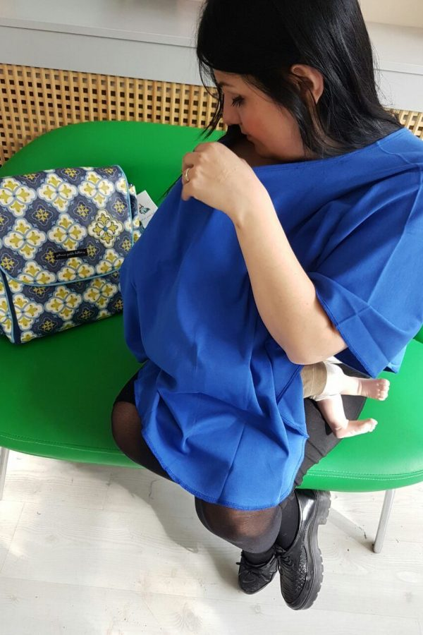 Nursing Poncho - Indigo Blue
