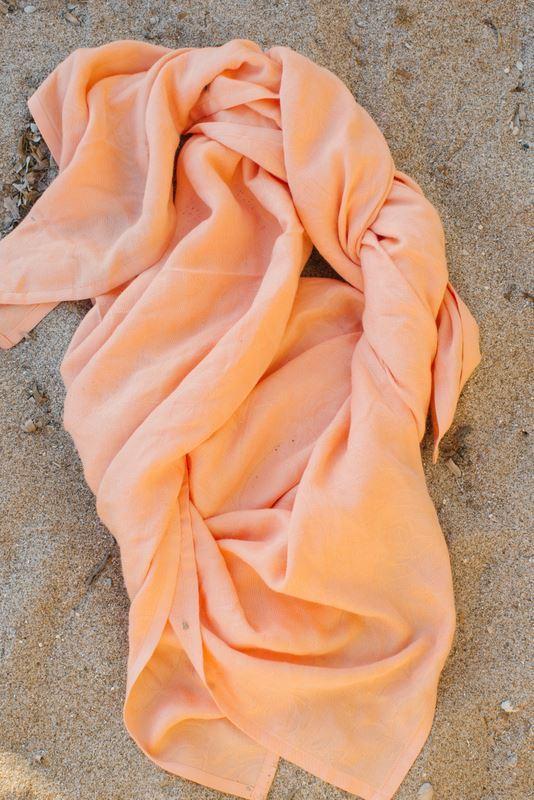 Neko Jaquard Muslin Blanket - Light Orange