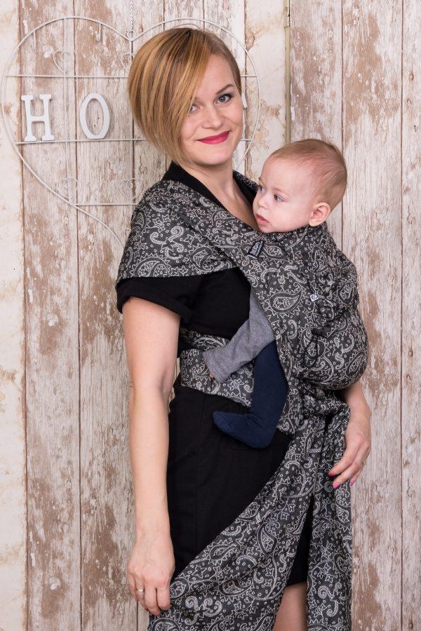 Neko Half Buckle Baby Size - Efes Paisley Hazel Dark