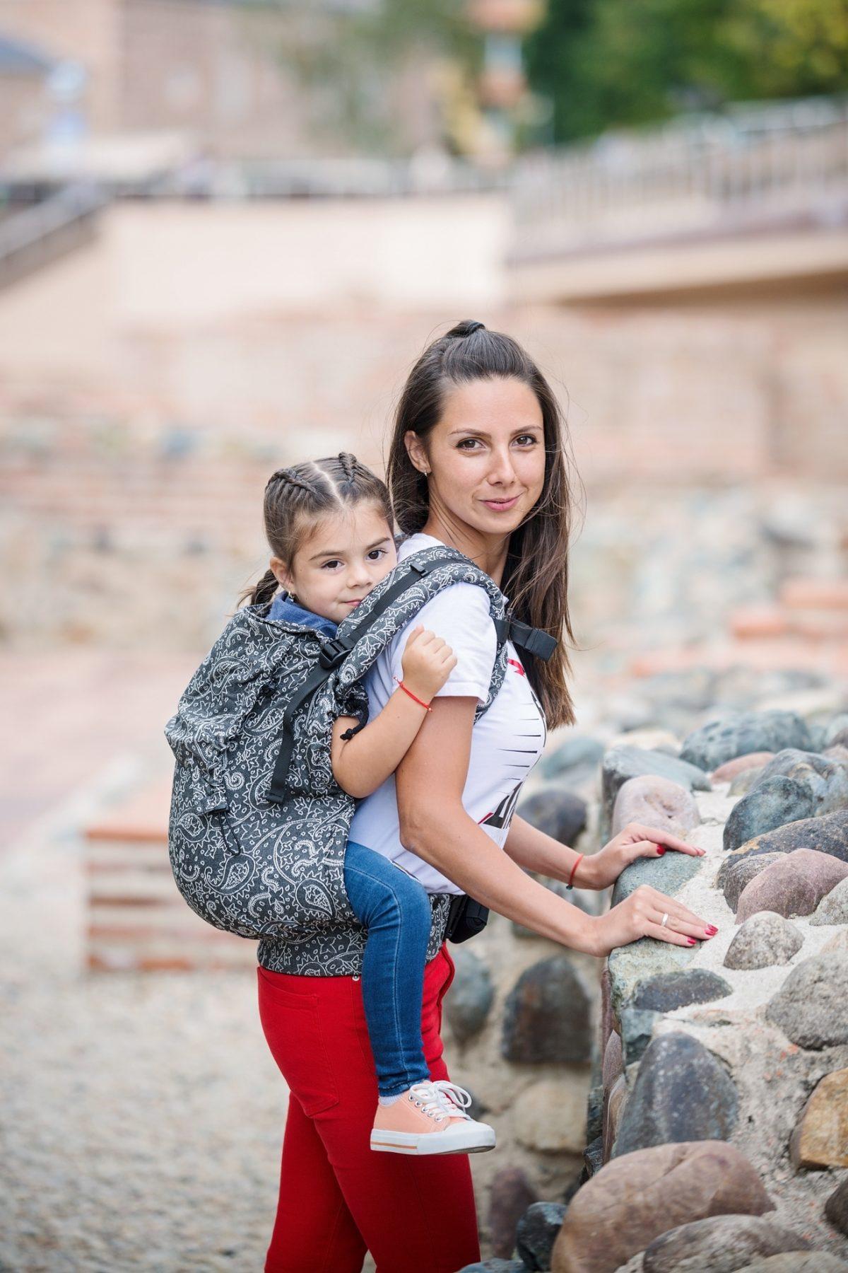 Neko Switch Toddler Size Carrier - Efes Paisley Hazel Dark