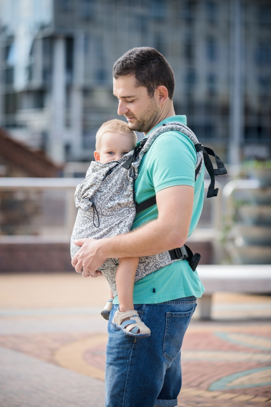 Neko Switch Toddler Size Carrier - Efes Paisley Hazel Light